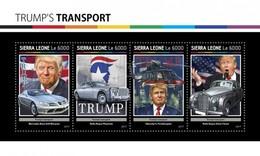 Sierra Leone - Postfris / MNH - Sheet Trumps Transportmiddelen 2017 - Sierra Leone (1961-...)