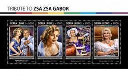 Sierra Leone - Postfris / MNH - Sheet Zsa Zsa Gabor 2017 - Sierra Leone (1961-...)