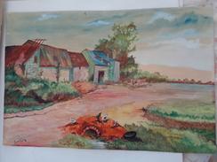 ROGER FAURE.Aquarelle Originale.Animaux De La Ferme.475 X 316 Mm.signature En Bas à Gauche. - Aquarelles