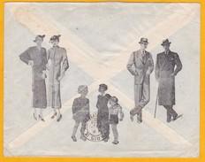 1938 - Enveloppe Commerciale Illustrée, Vêtements OSKA, D' Istamboul Vers Paris - T. Seul - Cad Arrivée - 1921-... Republiek