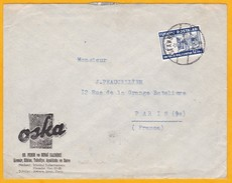 1938 - Enveloppe Commerciale Illustrée, Vêtements OSKA, D' Istamboul Vers Paris - T. Seul - Cad Arrivée - Briefe U. Dokumente