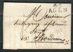 FRANCE 1810 Marque Postale Taxée Nimes Lettre Entière Pour St. Hyppolite - 1801-1848: Voorlopers XIX