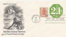 USA - Intero Postale -  THE DISCOVERY OF AMERICA - INDIANI FRECCE FARETRA - American Indians