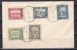 Polen 1918 Nicht Verausgabte Serie Lokalausgabe Luboml MiNo. I/V (A Und B) Auf Blankobrief Mit O 13.XI.1918 (60.-)