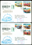 Cuba 2002 Registered FDC's (2) From Museo Postal Cubano To Thomas E. Leavey Director UPU Mi 4461-4466 - FDC