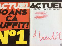 2 Numéros D' ACTUEL : Le Premier & Le Dernier De La Deuxième époque (N° 1 & 48-49-50 / 1991/95) - Politik