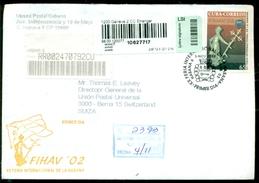 Cuba 2002 Registered FDC From Museo Postal Cubano To Thomas E. Leavey Director UPU Mi 4472 - FDC