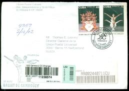 Cuba 2002 Registered FDC From Museo Postal Cubano To Thomas E. Leavey Director UPU Mi 4478-4479 - FDC