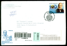 Cuba 2002 Registered FDC From Museo Postal Cubano To Thomas E. Leavey Director UPU Mi 4480 - FDC