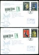Cuba 2002 Registered FDC's (2) From Museo Postal Cubano To Thomas E. Leavey Director UPU Mi 4481-4484 - FDC