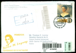 Cuba 2002 Registered FDC From Museo Postal Cubano To Thomas E. Leavey Director UPU Mi 4485 - FDC