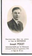 Bidprentje Polet Gefusileerd Grand-trixhe 7/9/44 - 1939-45