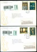 Cuba 2003 Registered FDC's (2) From Museo Postal Cubano To Thomas E. Leavey Director UPU Mi 4496-4499 - FDC