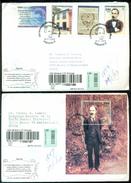 Cuba 2003 Registered FDC's (2) From Museo Postal Cubano To Thomas E. Leavey Director UPU Mi 4500-4503 + Block 4504 - FDC