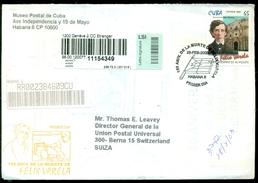 Cuba 2003 Registered FDC From Museo Postal Cubano To Thomas E. Leavey Director UPU Mi 4512 - FDC
