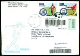 Cuba 2004 Registered FDC From Museo Postal Cubano To Thomas E. Leavey Director UPU Mi 4612 And 4615 - FDC