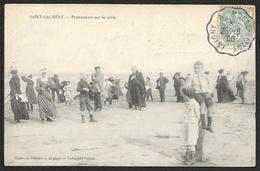 SAINT LAURENT Promeneurs Sur Le Sable (Costey) Calvados (14) - France