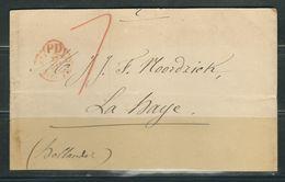 FRANCE 1868 Bande De Journal Taxée En Rouge De Paris Pour La Hollande - 1849-1876: Klassik
