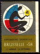 11529 Cinderela Bélgica Exopsição Filatélica 1958 - Cinderellas