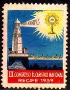 11532 Cinderela Brasil Congresso Eucarístico Farol 1939 - Erinnophilie