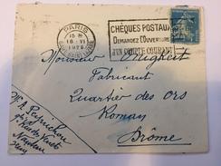 FRANCE - Env Avec Timbre Perforé - 1925 - P21409 - Perforés