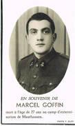 Bidprentje Goffin Overleden Mauthausen - 1939-45