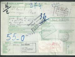 Portugal : Bulletin D'expédition Et Déclaration De Douane De Nazare - Marcophilie