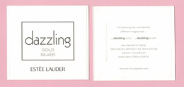 Cartes Parfumées  Carte DAZZLING ESTEE LAUDER  RECTO VERSO - Modern (from 1961)
