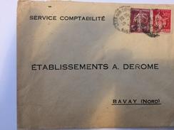 FRANCE - Env Avec Timbres Perforés - 1930 - P21417 - Perforés