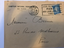 FRANCE - Env Avec Timbre Perforé - 1924 - P21418 - Perforés