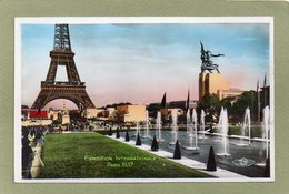 PARIS EXPOSITION 1937   Vue D'ensemble JARDINS DU TROCADERO - Exposiciones