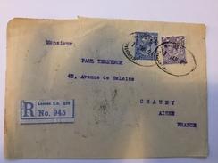 Env Recommandée (devant) Avec Timbres Perforés De Grande Bretagne - 1924 - P21422 - Perforés