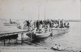 CPA. - Canots à Vapeurs De L'Escadre Anglaise Aux Appontements - Daté 1909 - BE - Ships