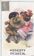 RIGHT N° 2911 - Modesty - BONNE ANNEE - PUDEUR - A Voir 2 Scans (Post Card) - Right