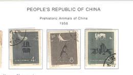 Cina Pop.1958 Animali Preestorici N.3 Valori Scott.341/343 See Scan - Used Stamps