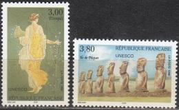 France 1998 Yvert Service 118 - 119 Neuf ** Cote (2012) 6.00 Euro Pompéi Et Ile De Pâques - Neufs