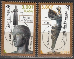 France 1999 Yvert Service 120 - 121 Neuf ** Cote (2012) 6.00 Euro Conseil De L'Europe Statues - Neufs