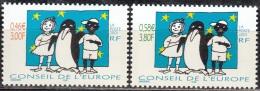 France 2001 Yvert Service 122 - 123 Neuf ** Cote (2012) 6.50 Euro Tomi Ungerer Je Suis Noir / Blanc - Dienstpost