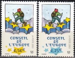 France 2003 Yvert Service 126 - 127 Neuf ** Cote (2012) 6.50 Euro Tomi Ungerer Le Marcheur Sur Les étoiles - Dienstpost