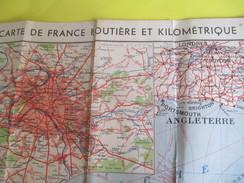 Carte De France  Routière Et Kilométrique  à L'Usage Des Automobilistes/Le Petit Parisien/Foldex/edition 1935     PGC138 - Tourism Brochures