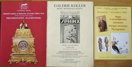 3 CATALOGUES MAGIE PRESTIDIGITATION BREMENS-GALERIE KOLLER-GALERIE DE CHARTRES - Altri