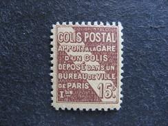 A). TB Timbre Colis Postaux N° 95, Neuf XX. Cote = 15 Euros. - Colis Postaux