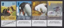 Falkland Islands 2015 Yvert 1193-96, Fauna. Birds - MNH - Falkland