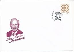 SC Povilas Brazdžiūnas 100th Birthday Professor Physicist - 18 September 1997 Vilnius - Lithuania