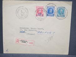 BELGIQUE - Enveloppe En Recommandé De Bruxelles Pour La France En 1935 , Affranchissement Plaisant - L 6360 - Postmark Collection