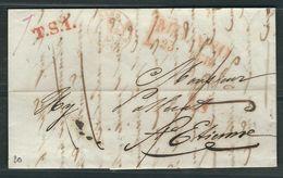 ITALIE 1843 Marque Postale Taxée Milan Lettre Entière Pour St. Etienne - Italie