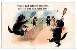 """CHAT . """" QUE CECI SOIT BIEN ENTRE NOUS ! """" . TENNIS - Réf. N°756 - - Cats"""