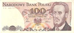 POLOGNE   100 Zlotych   1/6/1986   P. 143e - Pologne