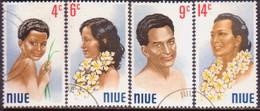 NIUE 1971 SG 162-65 Compl.set Used Portraits