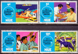 NIUE 1972 SG 170-73 Compl.set Used South Pacific Commission
